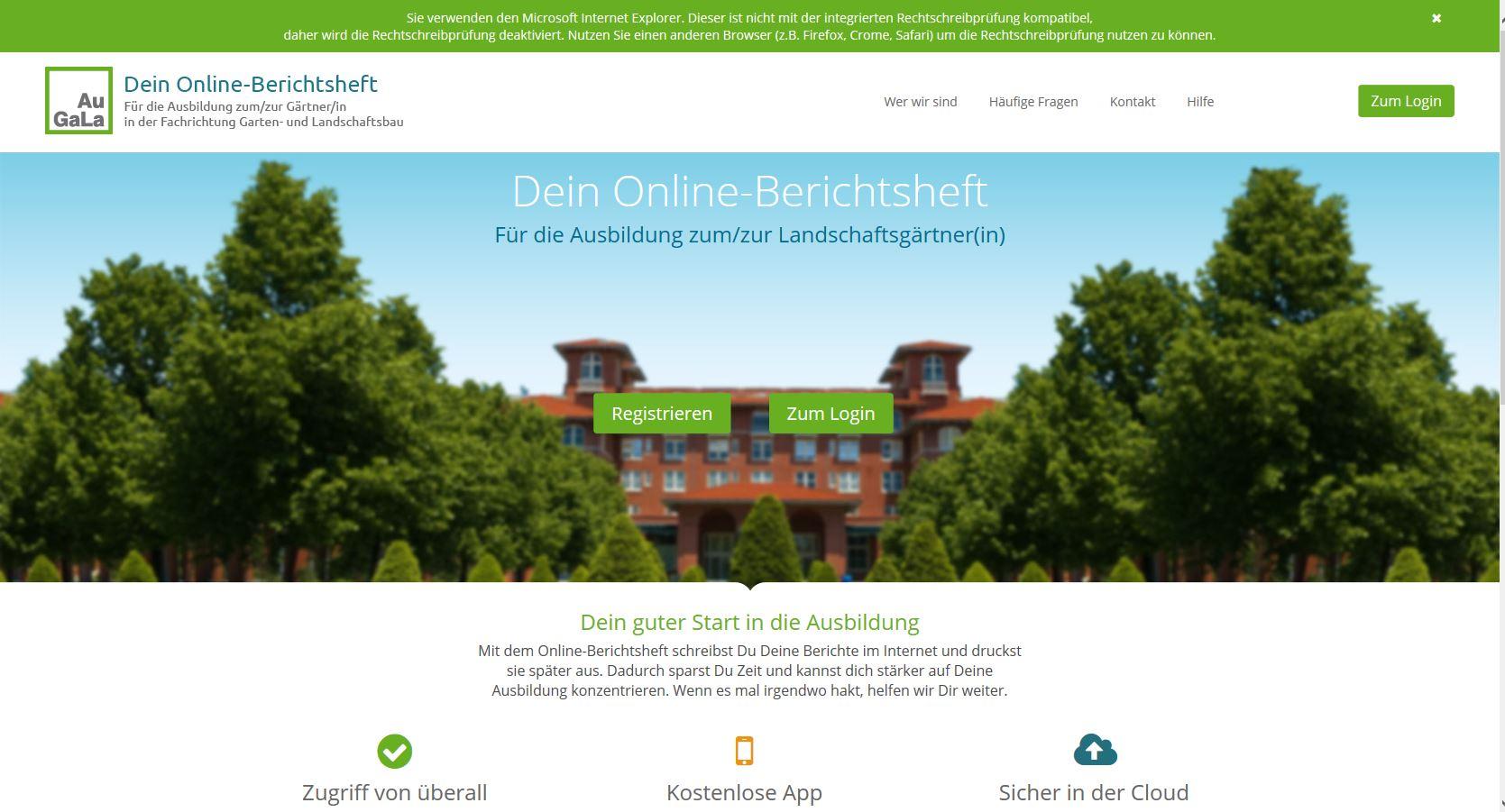 Online - Berichtsheft